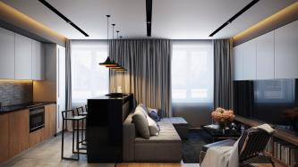 Cozy White Black Wall Glass Window Contemporary