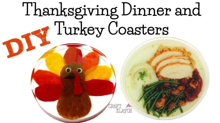 Craft Klatch Thanksgiving Dinner Turkey Coasters