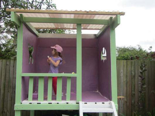 Crafty Little People Wooden Painted Cubby House