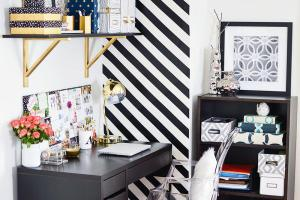 Create Striped Accent Wall Without Paint Homey
