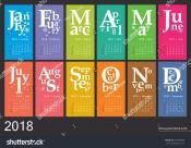 Creative Calendar 2018 Jazzy Concept Vector Stock