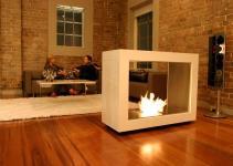 Creative Freestanding Fireplace Designs Brick Wall