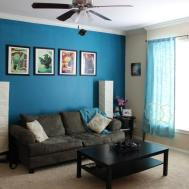 Creative Furnace Accent Wall Living Room Round Brown