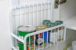 Creative Metal Over Door Storage Basket Practical Kitchen