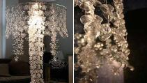 Crystal Ceiling Fixtures Plastic Bottle Chandelier Diy