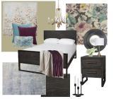 Crystal Rustic Meets Contemporary Bedroom Design Board