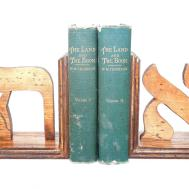 Custom Letter Bookends Greek Hebrew Letters Wood