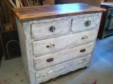 Custom Made Captain Dresser Antique Whitewash