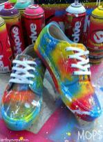 Custom Painted Vans Shoes Mops Graffiti