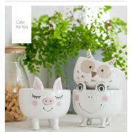 Cute Ceramic Animal Planter Apollobox