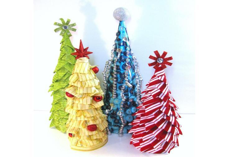 Cute Colorful Diy Tabletop Christmas Tree