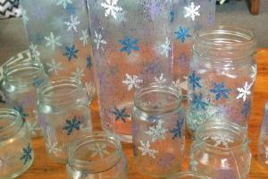 Dabbling Crafter Diy Sunday Snowflake Jars