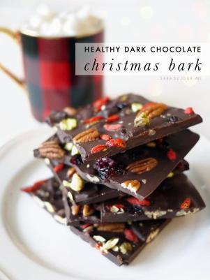 Dark Chocolate Christmas Bark Recipe Sara Jour