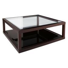 Dark Oak Frame Glass Coffee Table Dwell