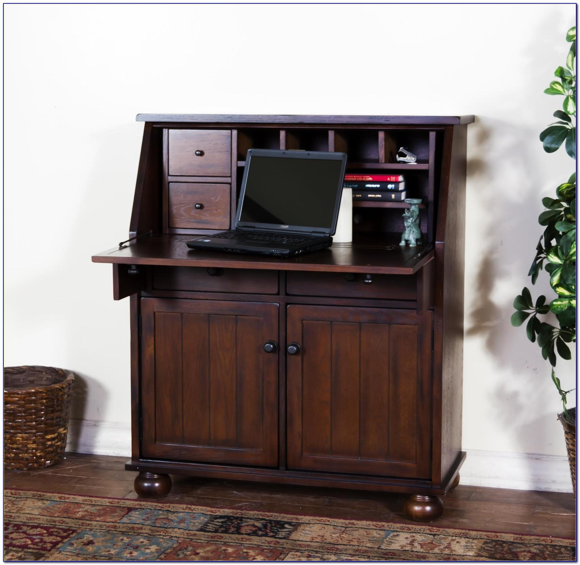 - Dark Oak Hideaway Computer Desk Home Design Ideas - Decoratorist