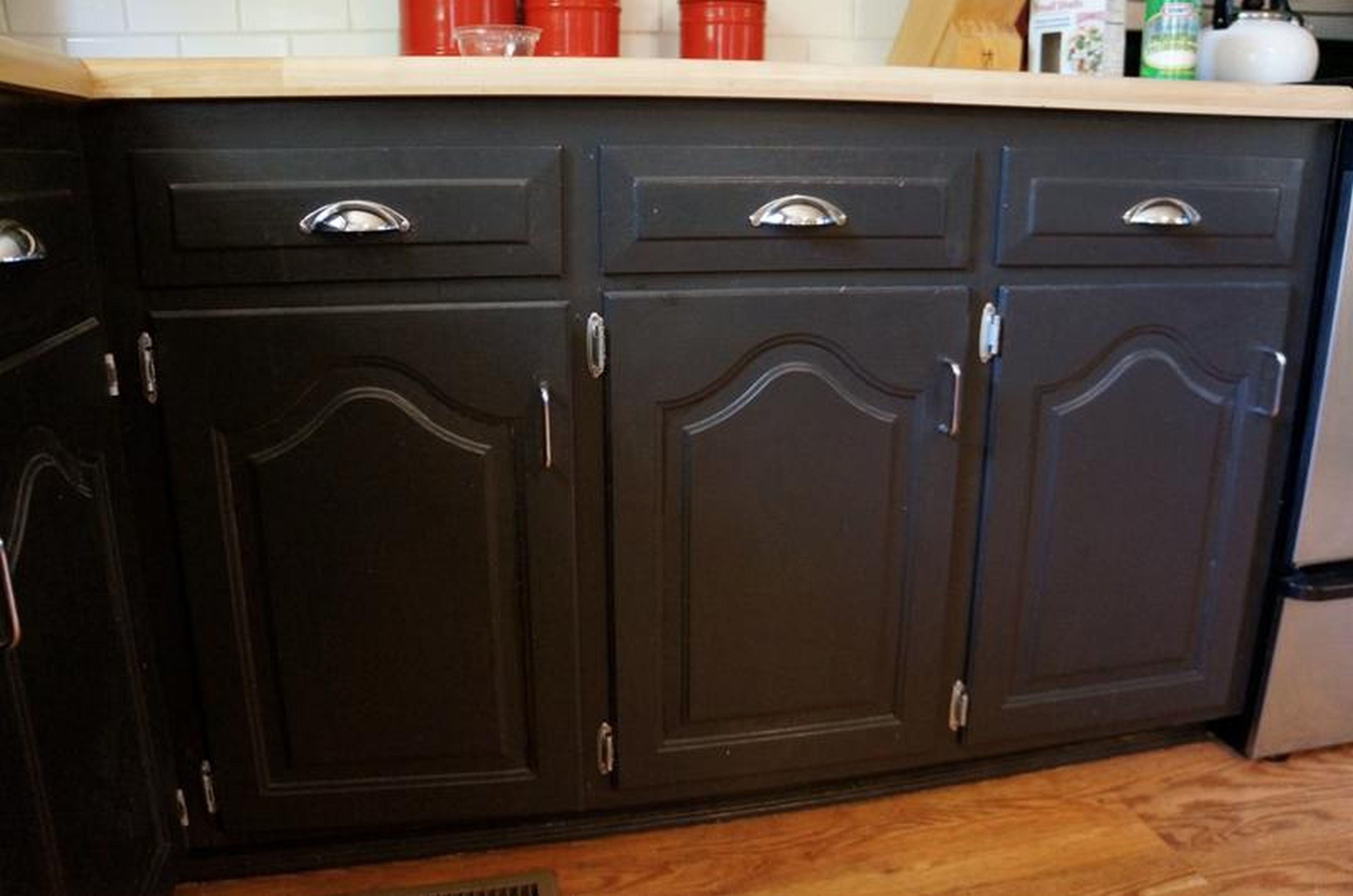Darker Refinishing Oak Kitchen Cabinets Steel Handle ...