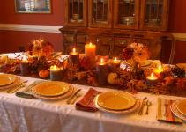 Decorating Table Thanksgiving Printed Pattern