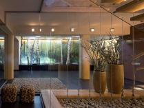Decorations Marvelous Outdoor Dark Glass Wall Panels