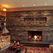 Decorative Bedrooms Stone Fireplace Above Ideas