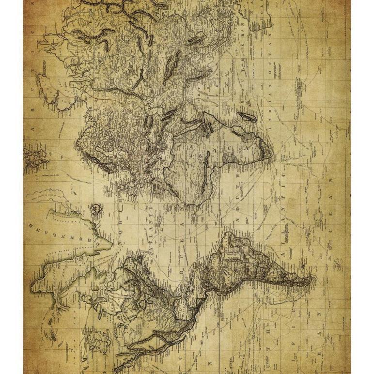 Decoupage Paper Antique Map Old