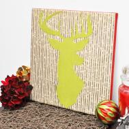 Deer Silhouette Diy Wall Art Mod Podge Rocks