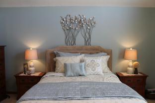 Demorest Designs Calm Serene Master Bedroom