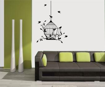 Dimensional Wall Stickers Tree Bird Sticker Sofa
