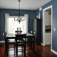 Dining Room Air Force Blue Wall Paint White Line