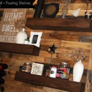 Dining Room Remodel Pallet Wall Floating Shelves