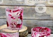 Director Jewels Diy Marbled Votive Candle Holders