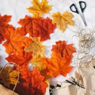 Diy Autumn Leaf Garland One Pleasant Day