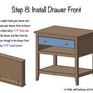 Diy Bedside Table Drawer Shelf Plans