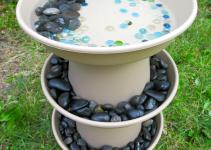 Diy Bird Bath Projects Summer Garden Decor