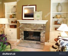 Diy Built Bookcase Fireplace Add Mantel Over