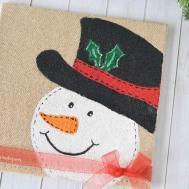 Diy Burlap Canvas Snowman Craft Gym Laundry