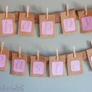 Diy Burlap Easter Banner Love Pasta Tool Belt
