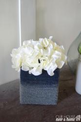 Diy Cardboard Tissue Box Turned Into Vase Easy Craft Idea