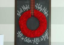 Diy Christmas Chalkboard Wreath Life Virginia Street