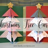 Diy Christmas Tree Cards Serendipidiy