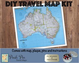 Diy Classic Australia Push Pin Travel Map Kit 100 Pins