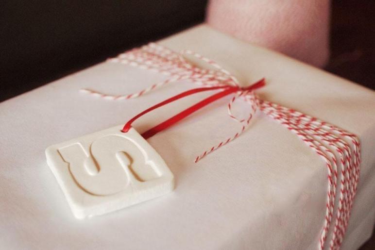 Diy Clay Monogram Ornaments Gift Jamie Bartlett