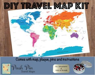 Diy Colorful World Push Pin Travel Map Kit 100 Pins