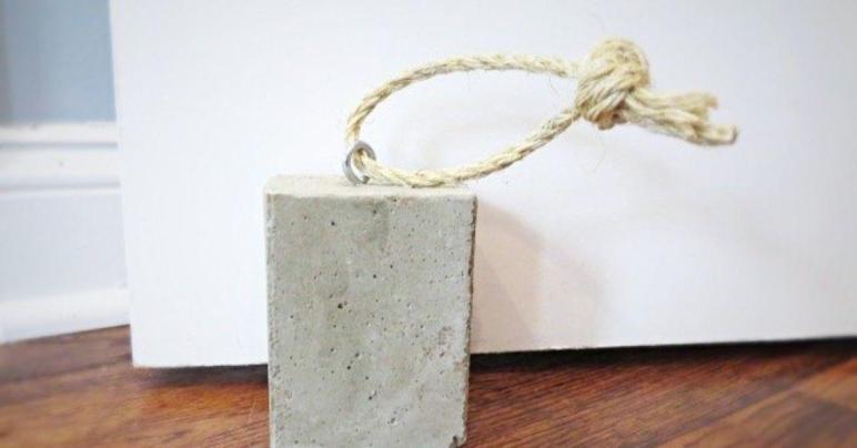Diy Concrete Door Stop Hometalk