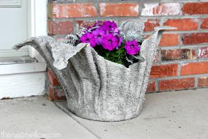 Diy Concrete Planter Rustic Willow