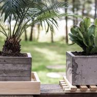 Diy Concrete Planters Board Formed