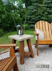 Diy Concrete Table Plus Solar Lamps Prodigal Pieces