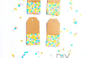 Diy Confetti Gift Touch Teal