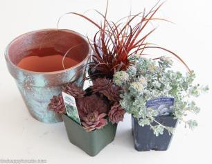 Diy Copper Patina Clay Pot Succulent Planter Happy