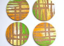 Diy Cork Painted Coasters Popsugar Smart Living