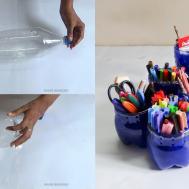 Diy Crafts Make Penholder Cool Drink Bottles